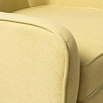 Christopher Knight Home 300568 Felicity Mid-Century Button Tufted Fabric Arm Chair Wasabi
