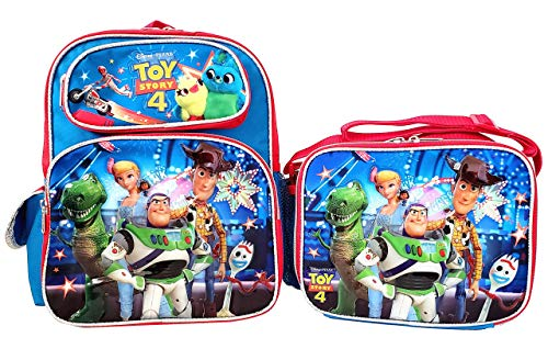 (Disney Toy Story 4 12 inch Backpack and Lunch Box Set)