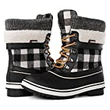 GLOBALWIN Women's Waterproof Winter Snow Boots (8 D(M) US Women's, Black1738)