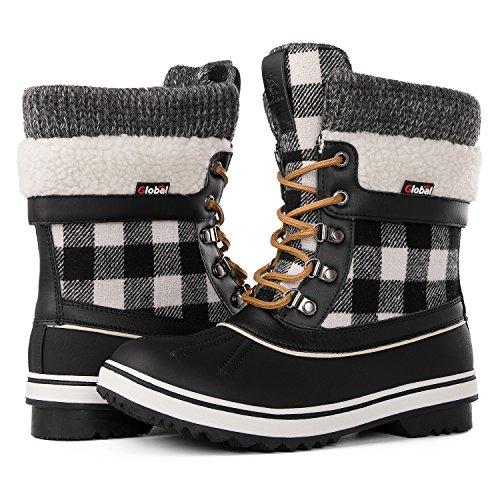 Global Win Globalwin Womens Waterproof Winter Snow Boots  8 D M  Us Womens  Black1738