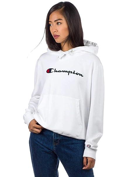 Champion Reverse Weave Hooded Sweatshirt, Sudadera con Capucha para Mujer: Amazon.es: Ropa y accesorios