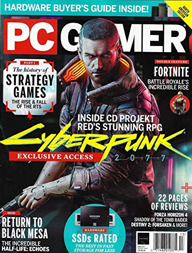 PC GAMER Magazine Holiday 2018 Issue 312 CYBER PUNK, FORTNITE, RETURN TO BLACK MESA