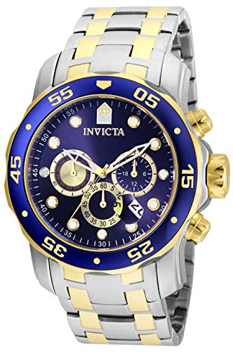 - Invicta Men's Pro Diver Quartz Watch with Stainless Steel Strap, Silver, 26 (Model: 24849)