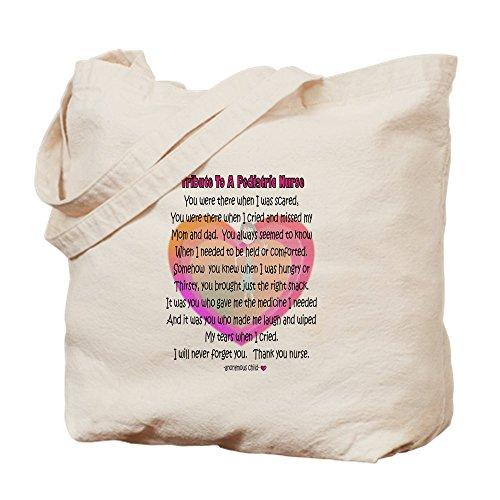CafePress - Pediatric Nurse Poem - Natural Canvas Tote Bag, Cloth Shopping Bag