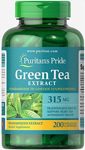 Cheap Puritans Pride Green Tea Standardized Extract 315 Mg Capsules, 200 Count
