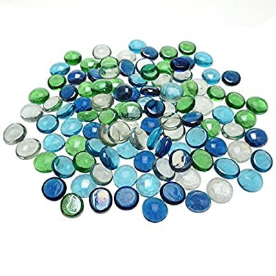 Bilipala Glass Gems, Vase Filler, Table Confetti Party Decorations, 1 Pound, Assorted Color