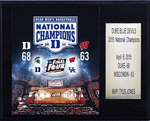 "NCAA Duke Blue Devils Men's Basketball 2015 National Champions Plaque, 12 x 15"""