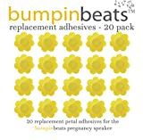 Baby : Adhesive replacements for bumpinbeats pregnancy speaker – 20 count, petal shaped, yellow-gold self-adhesive.