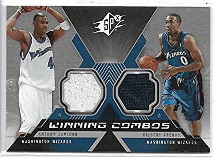 2005-06 SPX Basketball Antawn Jamison-Gilbert Arenas Dual Jersey Card   WC- 80042ece8