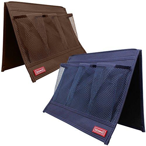 4 Pocket Bedside Storage Organizer, FineGood Set of 2 Pack Sofa Table (Table Pockets Set)
