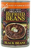 Amy's Light in Sodium Organic Refried Black Beans, 15.4-Ounce Cans (Pack of 12)