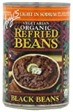 Amy's Light in Sodium Organic Refried Black Beans, 15.4-Ounce Cans...