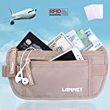 Travel Money Belt Waist Wallet RFID Blocking Passport Holder for Men Women