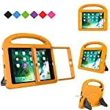 MENZO Kids Case for iPad Mini 3/2 / 1 (NOT for iPad Mini 4), Light Weight Shockproof Handle Stand Kids Case with Built-in Screen Protector for iPad Mini 1 / Mini 2 / Mini 3, Orange