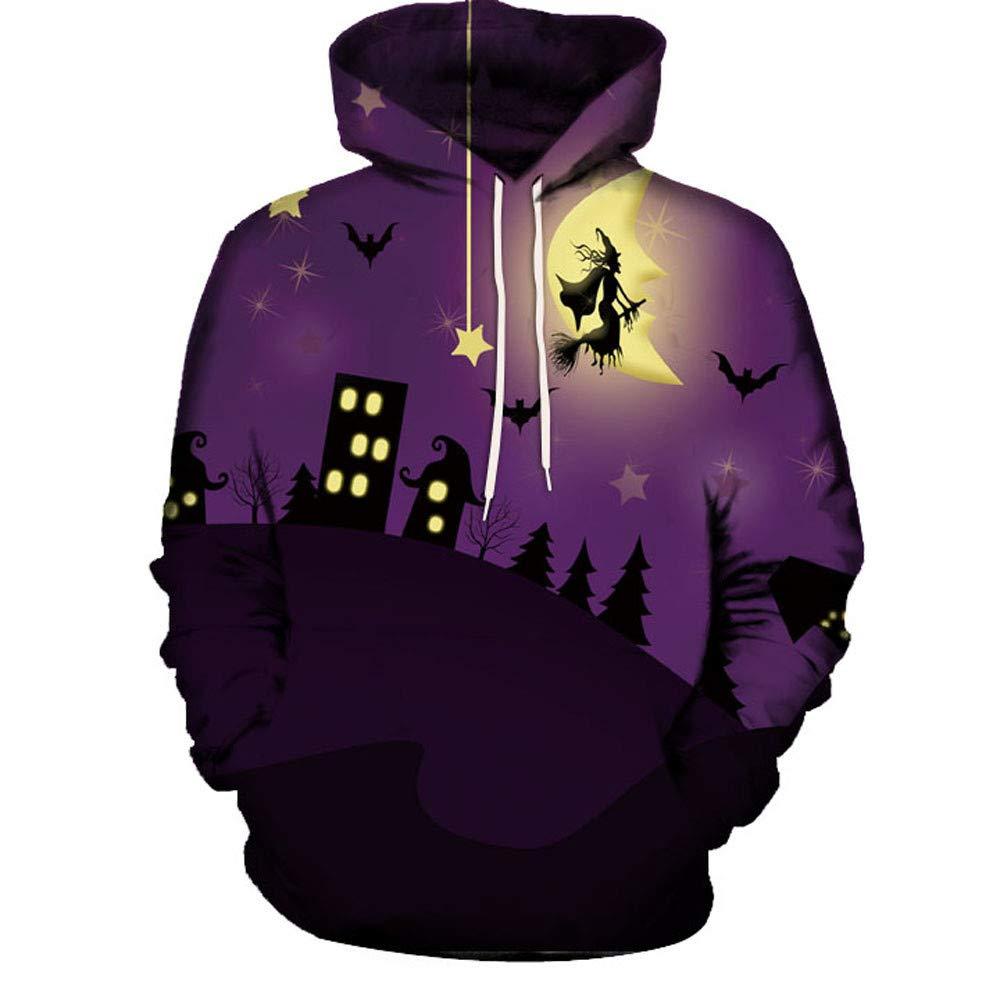 kaifongfu Halloween Hoodies Top,Long Sleeve Couples 3D Print Blouse Shirts(Purple,XXL) by kaifongfu-Women clothes (Image #4)
