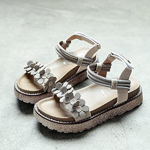 RUGAI-UE Las mujeres sandalias de verano zapatos inferior Beige