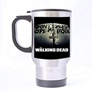 The Walking Dead Zombie Custom Design Silver Travel Mug