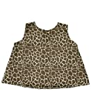 RuffleButts Infant/Toddler Girls Open Back Print Swing Top - Giraffe Print - 6-12m