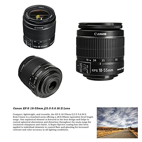 Canon DSLR with Canon 18-55mm IS & 75-300mm III Kit + Battery + Canon 64GB + Filters + + Monopod +