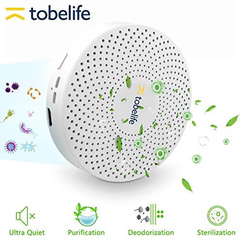 tobelife CW001 Mini Ozone Generator O3 Air Purifier USB Rechargeable Portable Odor Eliminator Deodorization Sterilizer for Car,Refrigerator,Shoe Cabinet and Hunting Bag