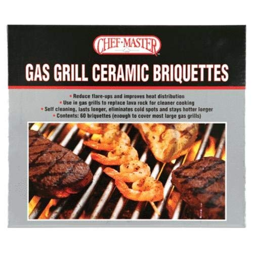 Chef-Master 05004cm Gas Grill Ceramic Briquettes, used for sale  Delivered anywhere in USA