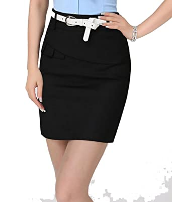 097882c492cf YGT Women's A Line Mini Skirt Office Wear Above Knee Pencil Skirt at Amazon  Women's Clothing store: