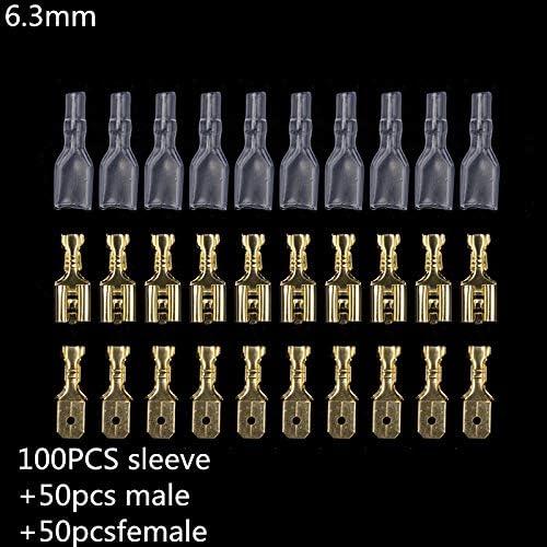 IENPAJNEPQN 200PCS Color : 2.8mm no Male 100Pairs Macho//Hembra terminales Spade Crimp Aislamiento el/éctrico de la Manga del Abrigo del Alambre Conector for 22-16 AWG 0.5mm2-1.5mm2