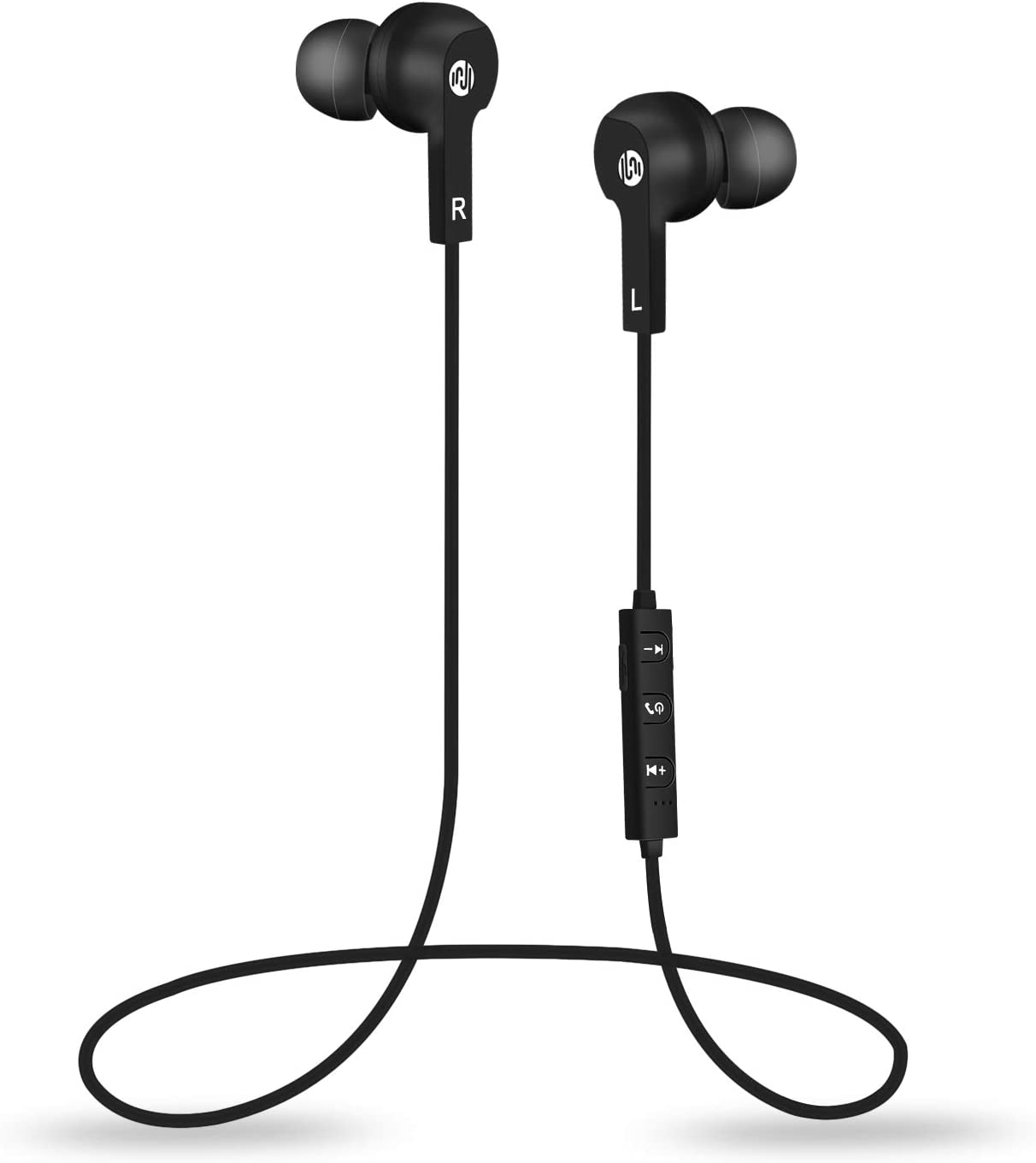 HUIYUJIA Wireless Headphones Bluetooth 5.0 in-Ear Sports Running Earphones Sweatproof Earbuds with Mic for Runner Working Out, Comfortable & Fast Pairing Lightweight 12g iPhone & Android Phones(Black)