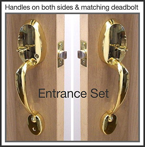 Impressive Door Handle Set Easy to install in any door. Each set contains all the hardware need to install Handles on both side of one door. Entrance set includes matching Deadbolt. Also For Passage or French Doors (Entrance Set & Dead Bolt)