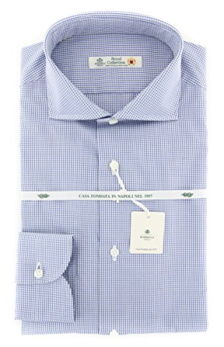 Luigi Borrelli New Blue Check Extra Slim Shirt
