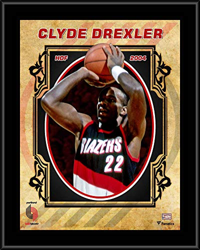 Blazers Portland Posters: Clyde Drexler Trail Blazers Plaque, Trail Blazers Clyde