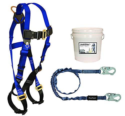 FallTech 9500Z, Starter Kit - 7015 Harness, 8259 SAL, White