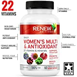 #1 BEST Daily Vitamin! MAX Potency Womens Daily Multi & Antioxidant! Non GMO! NO Iron, Fillers or Binders! Bridge Your Nutrition Gap with 22 Powerful Vitamins & Minerals! Female & Immune Support!