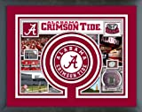 Alabama Crimson Tide Photo Collage Matted & Framed 12.5'' x 15.5''