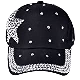 Coromose New Fashion Boy Girls Rhinestone Star Shaped Baseball Cap Snapback Hat