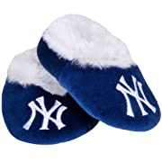 MLB New York Yankees Baseball Baby Bootie Slippers, 6-9 Months