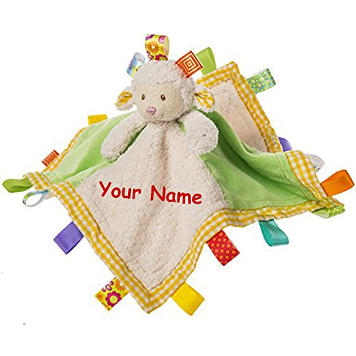Snuggle Bear Blanket - Taggies Personalized Sherbet Lamb Character Blanket Snuggle Blanky - 13 Inches