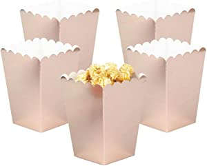 YESON Rose Gold Popcorn Boxes Mini Paper Popcorn Box for Party,Pack of 36