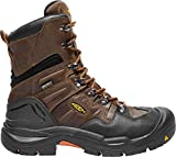KEEN Utility Coburg 8'' WP (Steel Toe), Men's Waterproof Work Boot, Cascade Brown/Brindle, 14 D