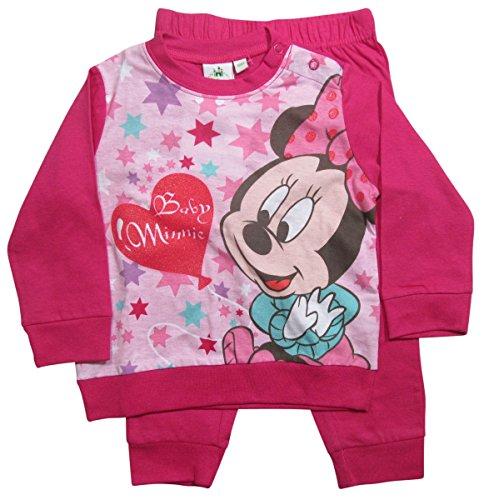 Minnie Mouse Kollektion 2016 Schlafanzug 74 80 86 92 98 Mädchen Pyjama Disney Neu Maus Fuchsia (86 - 92, Fuchsia)