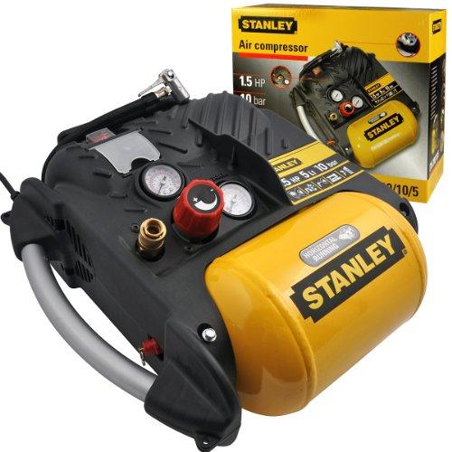 Stanley Druckluft Kompressor 1100W 10 bar / 5 Liter / 1,5 PS Luftkompressor