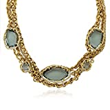 Riccova Sliced Glass CZ & Sliced Glass On 14k Gold-Plated Multi Strand Chain Necklace