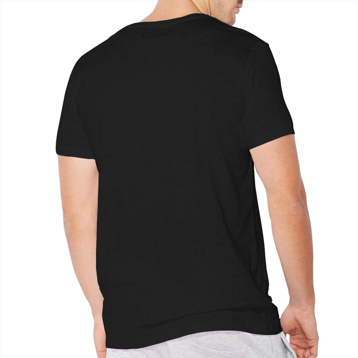 Mens Daddy Its Just Poop Be A Man Get in There Classic Comfortable Short-Sleeve Crewneck Cotton T-Shirt Black