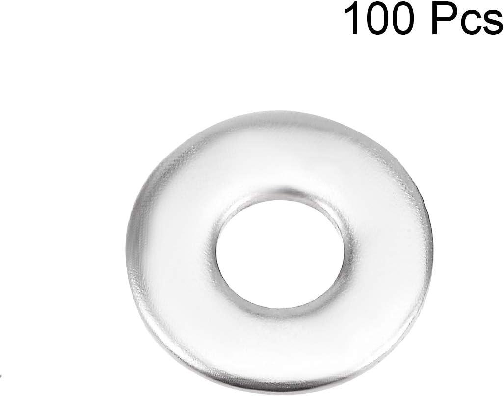 sourcing map 50 Pcs 5mm x 10mm x 0.8mm Rondelle plate en acier Inox 304 pour boulon