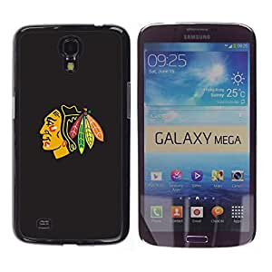 Design for Girls Plastic Cover Case FOR Samsung Galaxy Mega 6.3 Blackhawk Native American Indian Chief OBBA