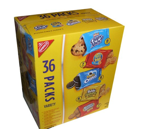 Nabisco Variety Pack Cookies and Crackers 1 Ounce Packs (Pack of 36)