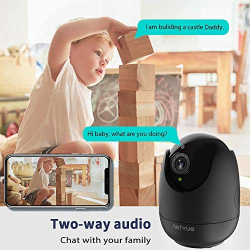 Dog Camera – Indoor Camera Wireless, 1080P Home Camera with Human Detection, Night Vision IP Camera, Cloud Storage 24s Smart-Clip, 128G SD Card Support, Two Way Audio, Dog Camera Work with Alexa