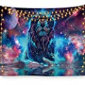 Bjyhiyh Lion Tapestry Universe Galaxy Tapestry Trippy Space Tapestries Wall Art For Bedroom Living Room Dorm Decor 59 1 39 4