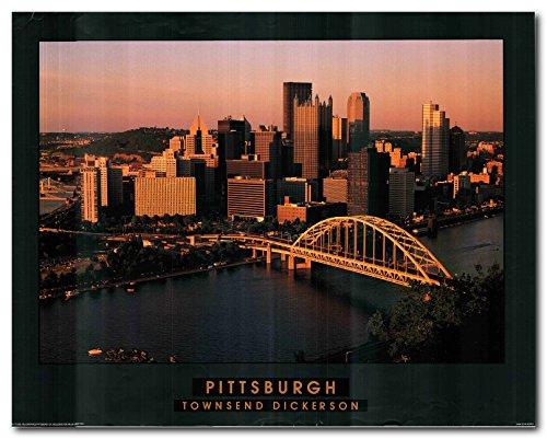 Pittsburgh Skyline Downtown City Wall Decor Art Print Poster