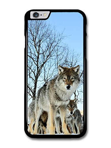 Wolf In the Forest Blue Sky coque pour iPhone 6 Plus 6S Plus